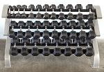 MODULAR THREE TIER HEX DUMBBELL RACK (LONG)