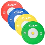 OLYMPIC RUBBER COMPETITION BUMPER PLATE WITH STEEL INSERT, COLOR