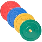 OLYMPIC 50% VIRGIN RUBBER BUMPER PLATE, COLOR