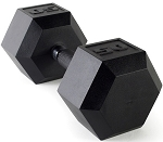CAP URETHANE HEX DUMBBELL WITH RUBBER HAND GRIP