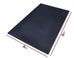 "ThudRug 4'x6'x1/2"" Solid Rubber Mat"
