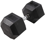 Rubber Hex Head Dumbbells