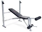 Adjustable Olympic Bench w/ Leg Developer