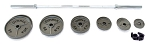 Fittrax GymPax Series GRAY CAST IRON PLATE 300 lbs. OLYMPIC SET