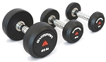 Round Head Rubber Dumbbell Set 5-50