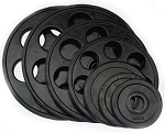 Fittrax 7 Hole Rubber Olympic Plates