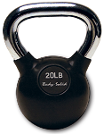 Rubber KettleBell with Chrome Handle - 35 lbs.