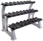 "3-Tier 44"" Dumbbell Rack with Saddles"