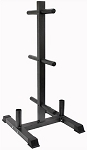 Vertical Olympic Bumper Plate and Bar Rack
