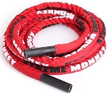 "30' PREMIUM UNDULATION ROPE W/SLEEVE - 1.5"" THICK GYM ROPE"