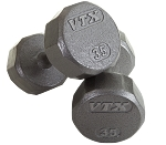 VTX 12 Sided Solid Gray Dumbbell