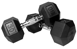 VTX 8 Sided Rubber Encased Dumbbells