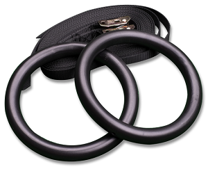 Tubular Steel Gymnastic Rings with Straps