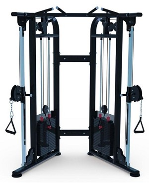 Compact Dual Adjustable Pulley Functional Trainer
