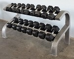 MODULAR TWO TIER HEX DUMBBELL RACK (SHORT)