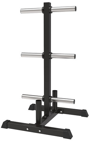 Fittrax Olympic Plate Rack w/Bar Holders
